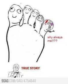 Oddly enough...for me, it's the ring toe that's taken a beating. Broke that toe on both feet...TWICE! :/