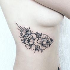 Floral tattoo by anna_bravo_
