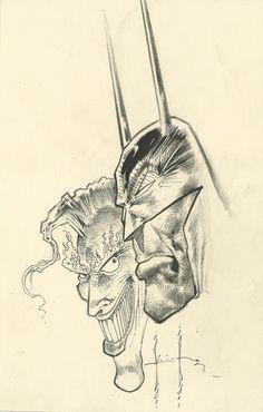SAM KIETH Original Art! BATMAN and JOKER! - W.B. Comic Books Art, Comic Art, Book Art, Geof Darrow, Phil Noto, Jeff Jones, David Finch, Original Pokemon, Mike Mignola