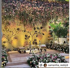 Desi Wedding Decor, Luxury Wedding Decor, Wedding Mandap, Outdoor Wedding Decorations, Stage Decorations, Wedding Stage, Flower Decorations, Wedding Venues, Engagement Stage Decoration