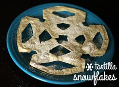 Sweet and Crunchy Tortilla Snowflakes | Make and Takes
