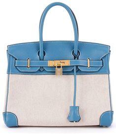 Hermès Vintage 'Birkin 30 Toile H' tote