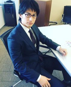 dean fujioka - suit with glasses, super hot