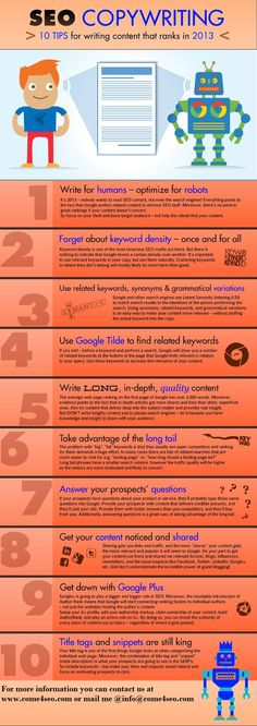 Check #CWG2014 with 10 tips for writing content that will help in ranking for your @ http://goo.gl/vCbmwE
