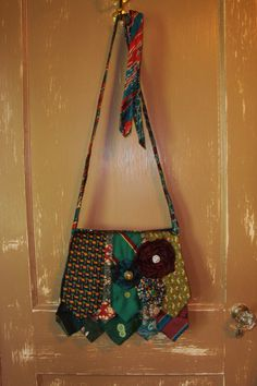 medium purse made out of mens neckties by CravatesbyDanette, $150.00