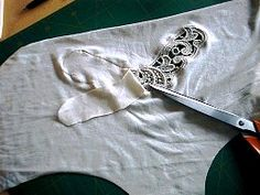 Tip: inserting lace details