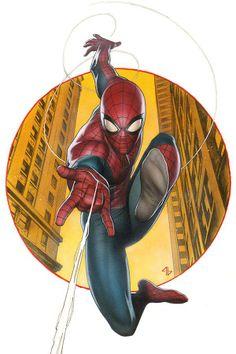 Amazing Spider-Man #1 variant cover by Adi Granov