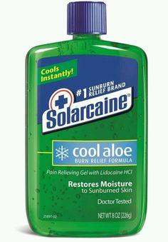 Solarcaine Cool Aloe Burn Relief Formula Pain Relieving Gel 8oz  EXP:01/17 #solarcaine