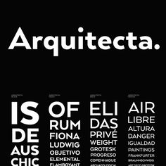 Arquitecta Humanist Font Family by Latinotype Calligraphy Fonts, Typography Fonts, Lettering, Humanist Font, Typographic Design, Beautiful Fonts, Font Family, Graphic Design Inspiration, Identity