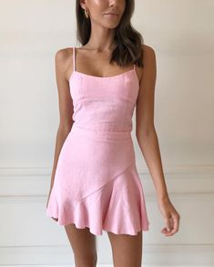 stylish summer outfits to wear now page 80 Dresses Near Me, Cute Dresses, Casual Dresses, Short Dresses, Dresses For Work, Summer Dresses, Pink Dress Casual, Ensembles Outfit, Estilo Rachel Green