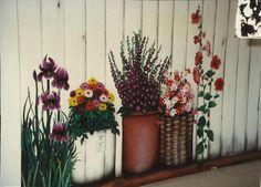 Garden mural on wall ~ Sandy Hurst