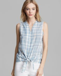 Soft Joie Top - Fanning Plaid | Bloomingdale's