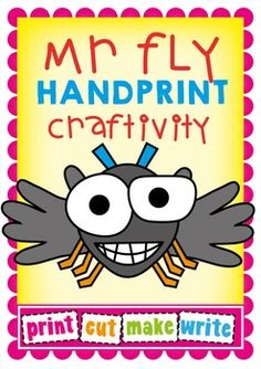 Free Craftivity - Mr Fly - Long i Activity Use the pieces in this file to help your students create their own Mr Fly Guy! Students paint 2 handprints to help make the fly's wings. You may like to add Long i (y) word cards to a bulletin board along with your students' flies to make a phonics/reading display.
