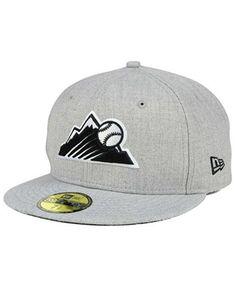 7b3a6d2fb12 New Era Colorado Rockies Heather Black White 59FIFTY Fitted Cap Men -  Sports Fan Shop By Lids - Macy s