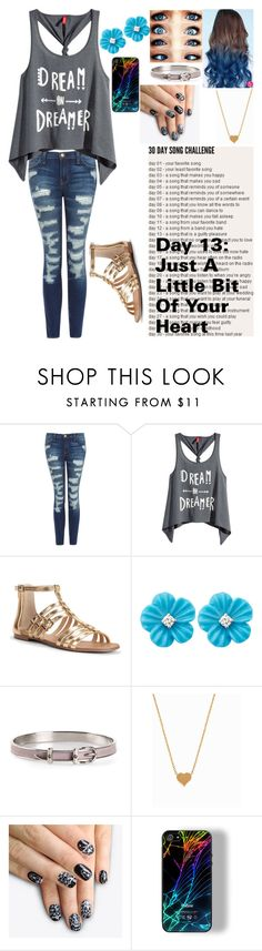 """""""Day 13"""" by shining-nova ❤ liked on Polyvore featuring beauty, Current/Elliott, H&M, Sole Society, Hermès, Minnie Grace, alfa.K and KitKatSongChallenge"""