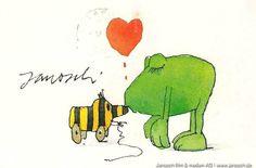 Janosch und Frosch #Liebe, #Frosch, #Postkarte, #Janosch