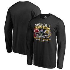 Alabama Crimson Tide vs. Washington Huskies Fanatics Branded College Football Playoff 2016 Peach Bowl Dueling Long Sleeve T-Shirt - Black - $20.99