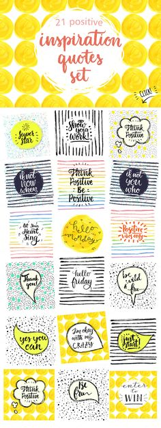 Inspiration quotes set