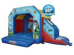 Undersea Bouncy Castle Slide Combo | toddlers from Air Inflatables