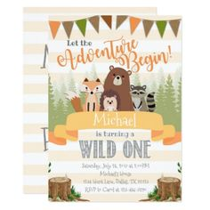 #Woodland Birthday Party Invitation Invite Natural - #saturday #saturdays