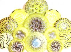 yellow vintage buttons