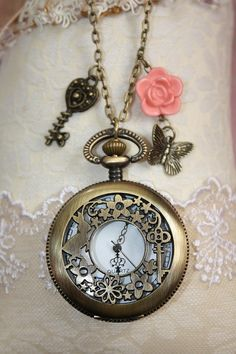 Pocket watch necklace - please will someone buy me one of these from Greenwich Market?!
