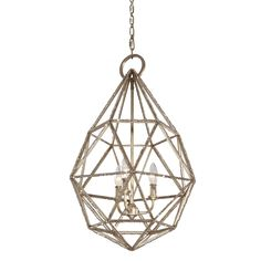 3 - Light Marquise Pendant in Burnished Silver by Feiss