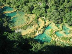 Semuc Champey Guatemala. By far one of the most beautiful places I have EVER been. I want to gooooo!!