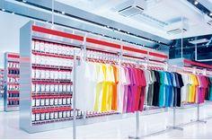interior for the UNIQLO store designed by KASHIWA SATO for SAMURI