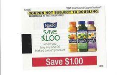 Naked Juice Product ~ 12/31/2014 ~ $1.00 on ONE (1)