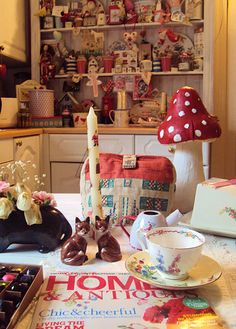 Cosy kitchen from countryrabbit.blogspot