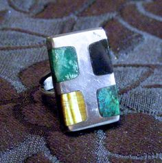 Hey, I found this really awesome Etsy listing at https://www.etsy.com/listing/180463980/vintage-taxco-modernist-ss-ring-inlaid