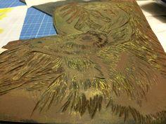 Linoleo tallado Papel Fabriano, Painting, Make Envelopes, Printmaking, Gold, Painting Art, Paintings, Painted Canvas, Drawings