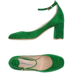 Roberto Festa Pump (11.120 RUB) ❤ liked on Polyvore featuring shoes, pumps, green, round toe pumps, ankle strap pumps, green leather pumps, round toe shoes and animal shoes