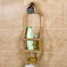 Teak Shower Caddy By Whittington Collection. $59.95. The Innovative Design  Of This Shower Caddy Pictures