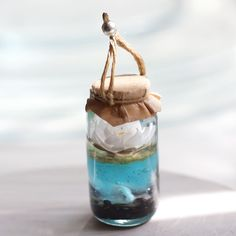 Прекрасное создание - Белая Лилия в мааленькой баночке!  #businist #lily #кулон #авторское стекло