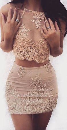 Cheap Vogue Two Pieces Homecoming Dresses Popular Two Pieces Charming Halter Short Homecoming Dresses Hoco Dresses, Cute Dresses, Beautiful Dresses, Cute Outfits, Homecoming Dresses Tight, Kohls Dresses, Pink Skirt Outfits, Casual Dresses, Amazing Outfits