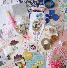 Embellishment Kit / Vintage Style Kit/ Scrapbook / Scrapbook Kit / Craft Embellishments / Vintage Embellishment Kit / Junk Journal / Cards