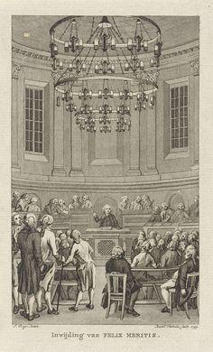 Inwijding van Felix Meritis, 1789, Reinier Vinkeles, 1799