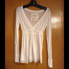 Abercrombie & Fitch Top Size Large New with tag. Has belt loops, but missing belt. Abercrombie & Fitch Tops
