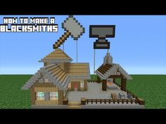 Minecraft Tutorial: How to Transform a Villager Blacksmith Minecraft Shops, Modern Minecraft Houses, Minecraft Forge, Minecraft City, Minecraft Plans, Minecraft Construction, Amazing Minecraft, Minecraft Tutorial, Minecraft Architecture