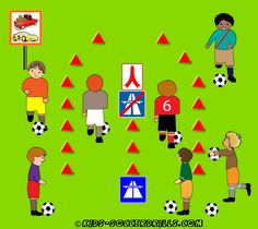Dribbling - Highway - Kids Soccer - Soccer drills for kids from to - Soccer coaching with fantasy Soccer Drills For Kids, Soccer Practice, Soccer Skills, Kids Soccer, Soccer Games, Soccer Ball, Soccer Party, Youth Soccer, Top Soccer