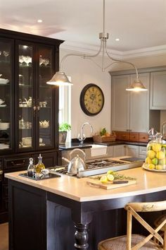 An outdated and dusty kitchen is opened up and simplified making for the perfect kitchen makeover. A hub to socialise as well as cook in! Home Design Decor, House Design, Kitchen Lighting, Kitchen Furniture, Home Pictures, Design Your Kitchen, Kitchen, Kitchen Makeover, Home Deco