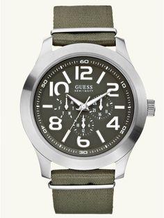GUESS Masculine Casual Watch - Green