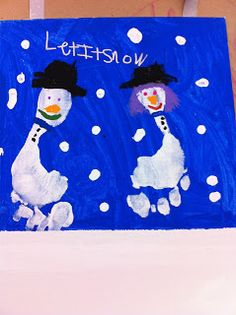Snowmen foot prints