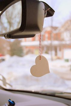 DIY portable air freshener made from a wood shape - northstory.ca
