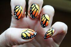 Jersey Girl, Texan Heart: Monarch Butterfly Nail Art