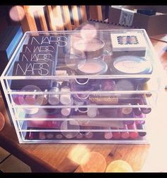 Acrylic Makeup Organizer Storage Container w/ 5 Drawers Makeup Organization, Storage Organization, Storage Ideas, Organisation Ideas, Rangement Makeup, Make Up Storage, Make Up Organiser, Palette, Cool Things To Make