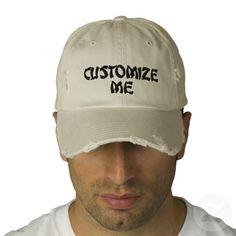 Make your own Custom  Embroidered Caps #zazzle 20% off Embroidered Baseball Cap