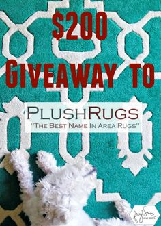 This $200 Giveaway towards a new rug on PlushRugs.com is perfect for the holidays to spruce up your home from FrySauceandGrits.com